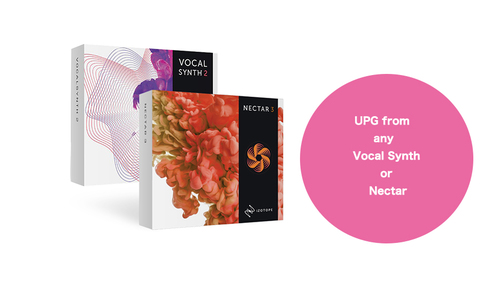 iZotope Vocal Bundle 2 UPG from any  Vocal Synth or Nectar ★在庫限り特価!