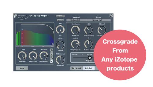 Exponential Audio PhoenixVerb クロスグレード 【対象:iZotope製品を1つでもお持ちの方】 ★在庫限り特価!
