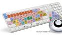 LogicKeyboard LogicSkin Logic Pro/Express 9 Preset Keyboard Cover (テンキー付きUltra-thin Aluminumキーボード・US配列用) の通販