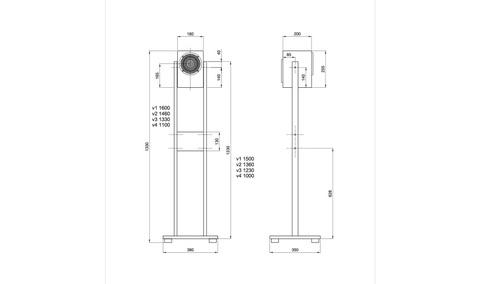 musikelectronic geithain RL906  専用フロアスタンド(1本)