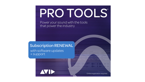 Avid Pro Tools 1-Year Subscription RENEWAL DL版
