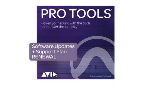 Avid Pro Tools 1-Year Software Updates + Support Plan RENEWAL ダウンロード版