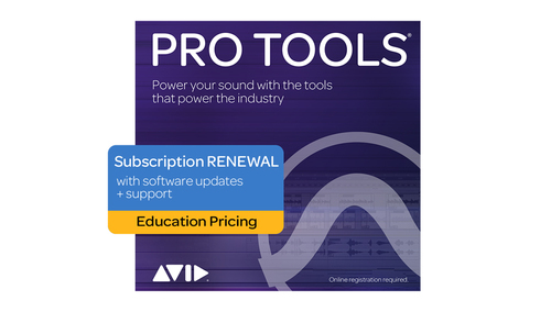Avid Pro Tools 1-Year Subscription RENEWAL - Education Pricing DL版