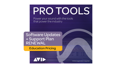 Avid Pro Tools 1-Year Software Updates+Support Plan RENEW - EDU DL版