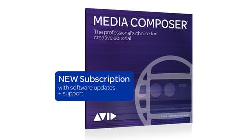 Avid Media Composer 1-Year Subscription NEW DL版