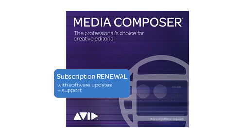 Avid Media Composer 1-Year Subscription RENEWAL DL版